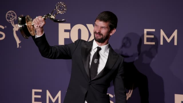 ben whishaw poses in the press room during the 71st emmy awards at microsoft theater on september 22, 2019 in los angeles, california. - ben whishaw stock videos & royalty-free footage