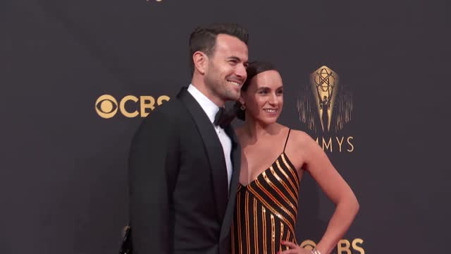 ben winston and meredith winston arrive to the 73rd annual primetime emmy awards at l.a. live on september 19, 2021 in los angeles, california. - emmy awards stock videos & royalty-free footage
