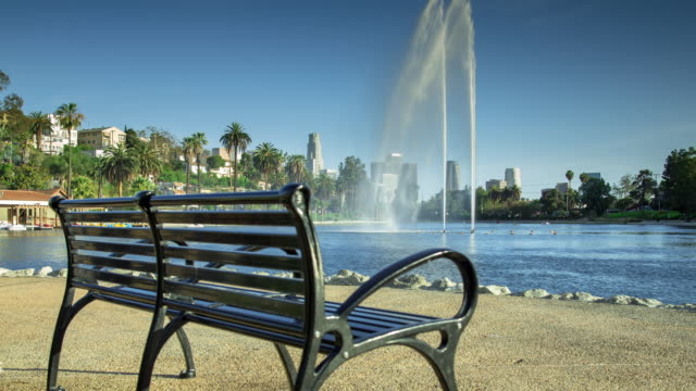 Bench at Echo Park Lake, Los Angeles (Motion Control Timelapse)