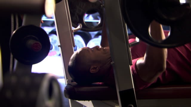 bench press - see other clips from this shoot 1272 stock videos and b-roll footage