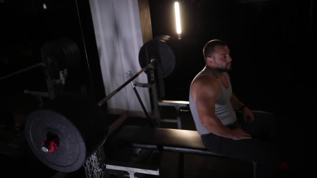bench press workout - bench stock videos & royalty-free footage