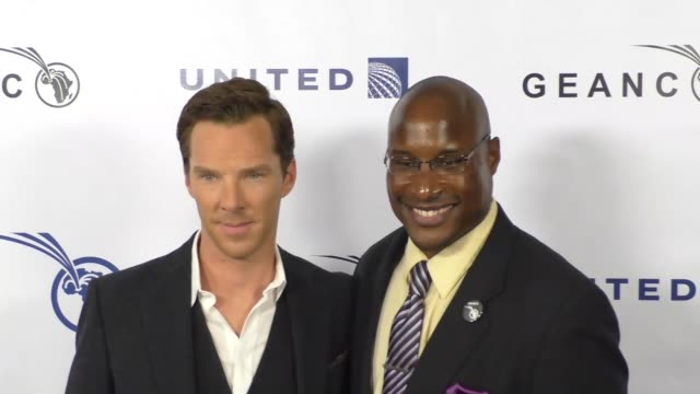 Benedict Cumberbatch and Afam Onyema at the GEANCO Foundation's Annual Hollywood Fundraiser at Pacific Design Center in West Hollywood at Celebrity...