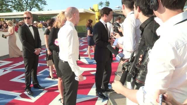 benedict cumberbatch at arqiva british academy television awards at the national theatre on may 27, 2012 in london, england - 英国アカデミー賞テレビ部門点の映像素材/bロール