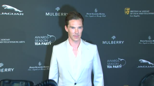benedict cumberbatch at bafta 2014 awards season tea party at four seasons hotel los angeles at beverly hills on in beverly hills, california. - benedict cumberbatch stock videos & royalty-free footage