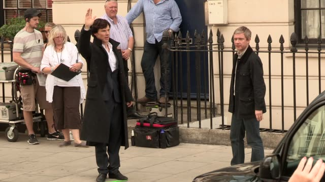benedict cumberbatch at celebrity video sightings on august 21, 2013 in london, england - benedict cumberbatch stock videos & royalty-free footage