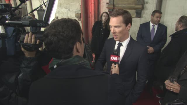 benedict cumberbatch at 'doctor strange' uk premiere at westminster abbey at westminster abbey on october 24, 2016 in london, england. - benedict cumberbatch stock videos & royalty-free footage