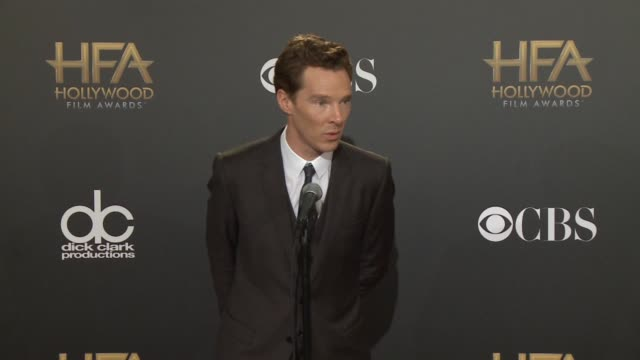 benedict cumberbatch at the 2014 hollywood film awards in los angeles, ca 11/14/14 - benedict cumberbatch stock videos & royalty-free footage