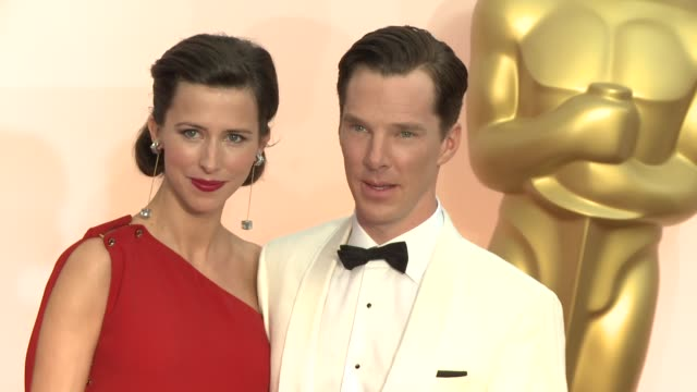benedict cumberbatch at the 87th annual academy awards - arrivals at dolby theatre on february 22, 2015 in hollywood, california. - benedict cumberbatch stock videos & royalty-free footage