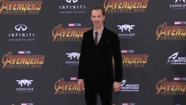 "benedict cumberbatch at the ""avengers: infinity war"" world premiere on april 23, 2018 in hollywood, california. - benedict cumberbatch stock videos & royalty-free footage"