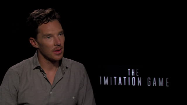 benedict cumberbatch at the junket of the imitation game at toronto film festival, on on sept 10, 2014 - benedict cumberbatch stock videos & royalty-free footage
