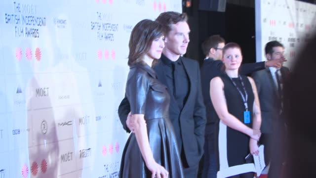benedict cumberbatch at the moet british independent film awards 2014 at old billingsgate market on december 07 2014 in london england - audio electronics stock videos & royalty-free footage