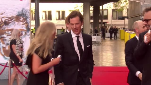 benedict cumberbatch at the royal festival hall on may 14 2017 in london england - royal festival hall stock videos & royalty-free footage