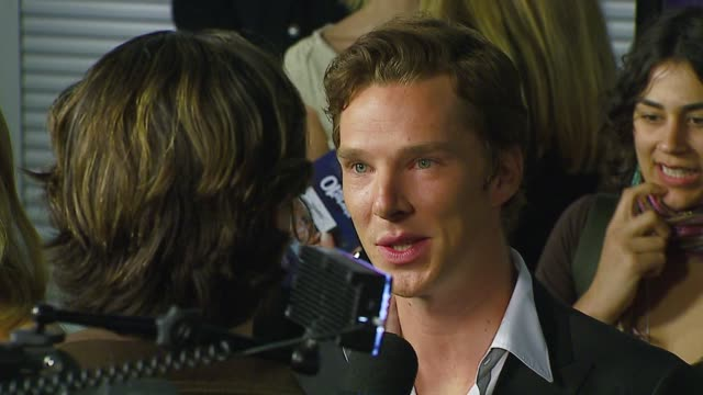 benedict cumberbatch at the 'starter for 10' los angeles premiere at arclight cinemas in hollywood, california on february 6, 2007. - benedict cumberbatch stock videos & royalty-free footage