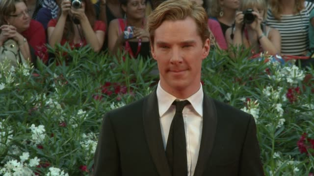benedict cumberbatch at the tinker, tailor, soldier, spy premiere: venice film festival 2011 at venice . - benedict cumberbatch stock videos & royalty-free footage