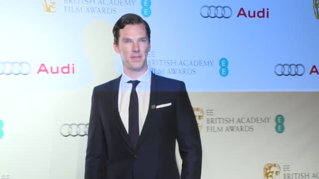 benedict cumberbatch, natalie dormer, felicity jones, patricia arquette at bafta nominees party on 7th february 2015 in london, england. - benedict cumberbatch stock videos & royalty-free footage