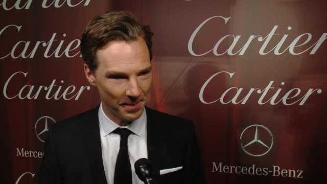benedict cumberbatch on being honored with the ensemble performance award, what makes this festival different from others, how he's gearing up for... - benedict cumberbatch stock videos & royalty-free footage