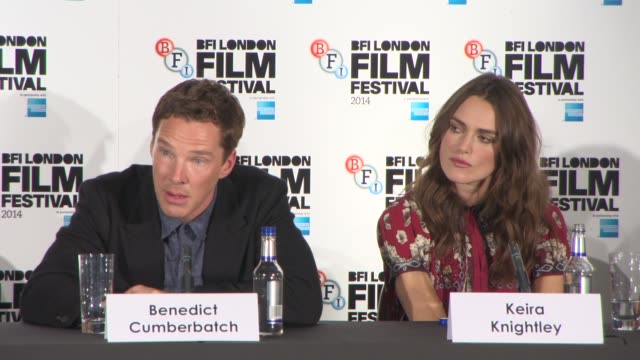 INTERVIEW Benedict Cumberbatch on how he approached Alan Turing's sexuality at The Imitation Game Press Conference at Corinthia Hotel London on...