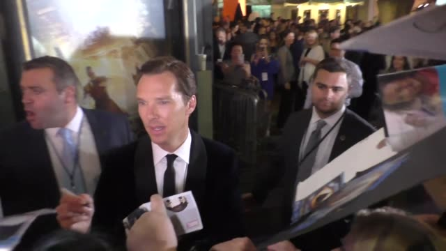 Benedict Cumberbatch outside the Doctor Strange Premiere at the TCL Chinese Theatre in Hollywood in Celebrity Sightings in Los Angeles
