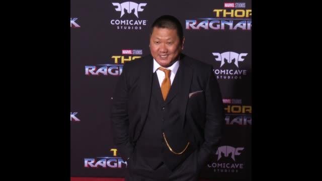 benedict wong at the 'thor ragnarok' premiere - thor: ragnarok stock videos & royalty-free footage