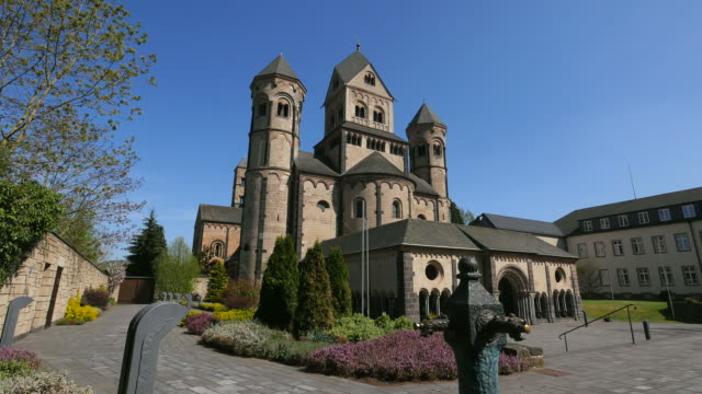 benedictine abbey of maria laach rhineland-palatinate, rheinland-pfalz germany, deutschland - deutschland stock videos & royalty-free footage