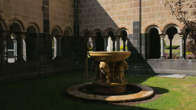 benedictine abbey of maria laach rhineland-palatinate, rheinland-pfalz germany, deutschland - christianity stock videos & royalty-free footage
