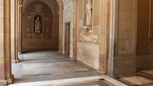 benedictine abbey santa maria de montserrat in spain - male likeness stock videos & royalty-free footage
