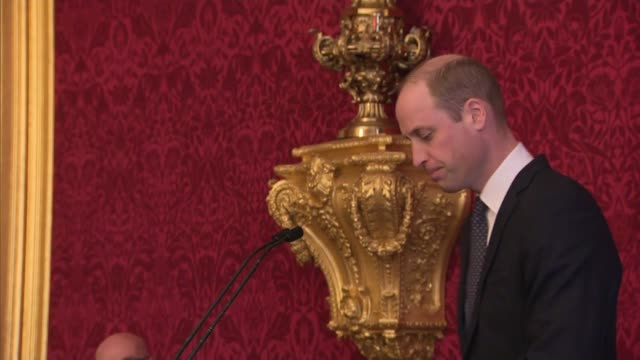 beneficiaries of fund for orphan's of met police officer's meet duke of cambridge; england: london: st james's palace: int prince william, duke of... - orphan stock videos & royalty-free footage