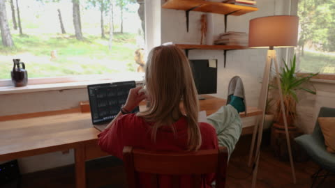 benefits of working from home - desk stock videos & royalty-free footage