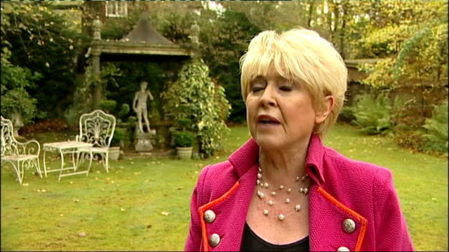 row over plan for the well-off pensioners to donate winter fuel payments; ext gloria hunniford interview sot - talks of not needing a winter fuel... - gloria hunniford stock-videos und b-roll-filmmaterial