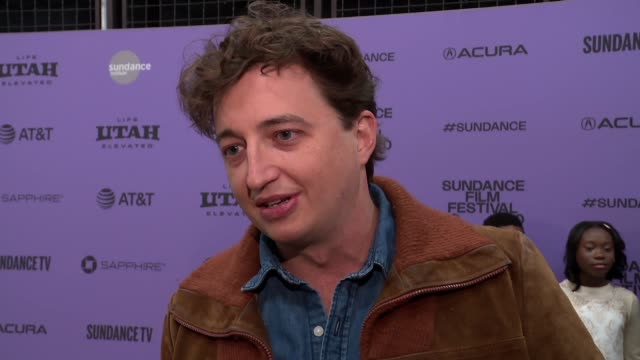 "stockvideo's en b-roll-footage met interview benh zeitlin on the plot the writing process being at sundance making the movie audience takeaways at the ""wendy"" sundance premiere... - sundance film festival"