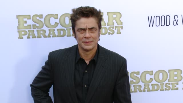 Benicio Del Toro at the Escobar Paradise Lost Los Angeles Premiere at ArcLight Hollywood on June 22 2015 in Hollywood California