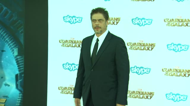 Benicio Del Toro at the Guardians of the Galaxy World Premiere at the El Capitan Theatre on July 21 2014 in Hollywood California