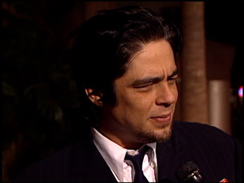 Benicio Del Toro at the Premiere of 'The Way of the Gun' at the Egyptian Theatre in Hollywood California on August 29 2000