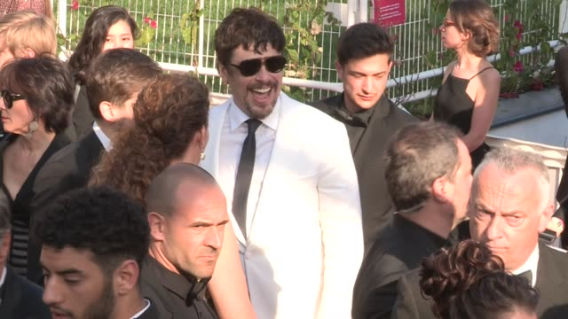 benicio del toro on the red carpet of the 2018 cannes film festival closing ceremony cannes france 19th may 2018 - 71st international cannes film festival stock videos & royalty-free footage