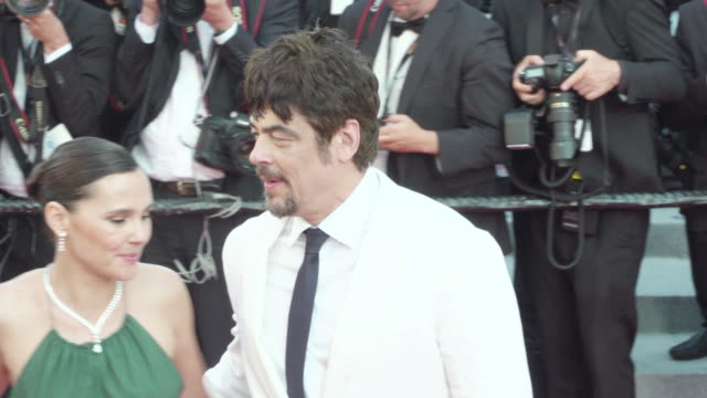 benicio del toro shines on the red carpet of the man who killed don quixote - 71st international cannes film festival stock videos & royalty-free footage