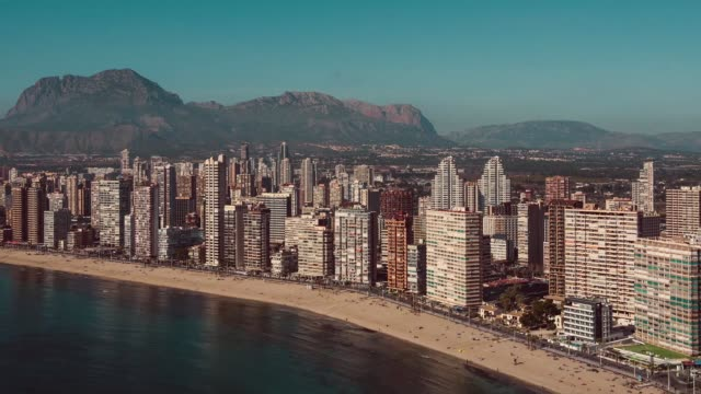 Benidorm coastline. Spain