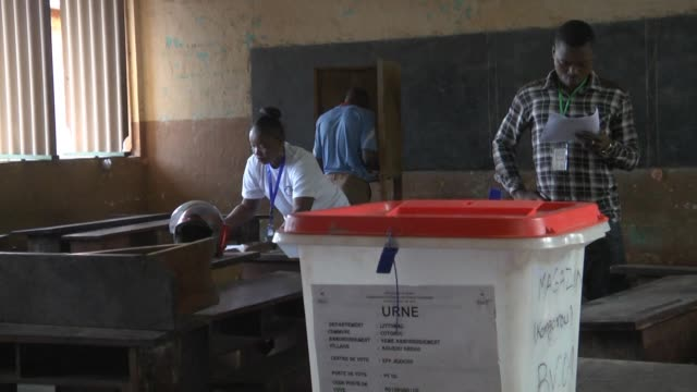 benin goes to the polls to choose a new president from a crowded field of 33 candidates but with concerns lingering about the distribution of voters... - benin stock videos and b-roll footage