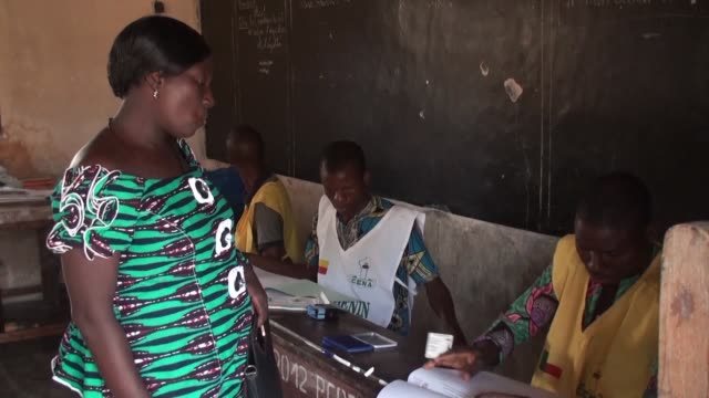benin voters cast their ballots in cotonou for a new parliament but without a single opposition candidate as rights groups warn of a crackdown in a... - benin stock videos and b-roll footage