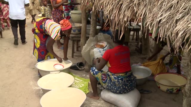 benin_afrika_market - benin stock videos and b-roll footage