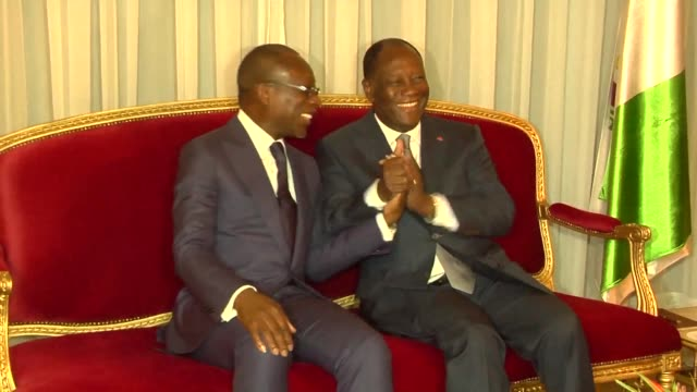 beninese president patrice talon says he and his ivorian counterpart hope to be in banjul on january 19th for the inauguration of the president of... - benin stock videos and b-roll footage