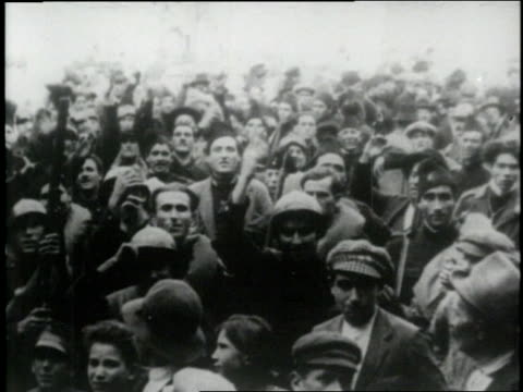 benito mussolini's blackshirted fascists take control of italy in 1922 - benito mussolini stock videos & royalty-free footage