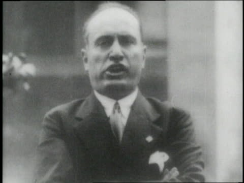 benito mussollini gives a speech - benito mussolini stock videos & royalty-free footage