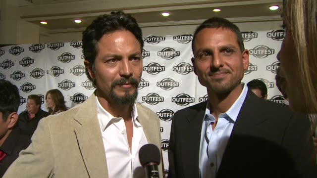 interview benjamin bratt and peter bratt on having their film 'la mission' playing on opening night of outfest on benjamin's character in the film on... - benjamin bratt stock videos & royalty-free footage