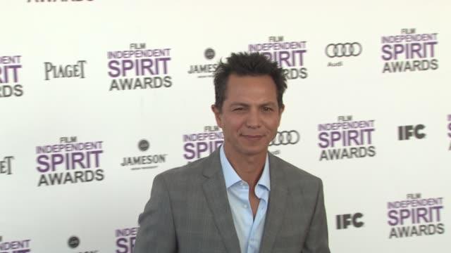 benjamin bratt at the 2012 film independent spirit awards arrivals on 2/25/12 in santa monica ca united states - benjamin bratt stock videos & royalty-free footage