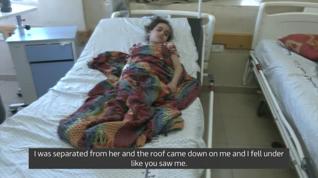 benjamin netanyahu dismisses requests for israel to wind down attacks; israel: int hospital general views of suzy lying on hospital bed alongside... - war and conflict stock videos & royalty-free footage