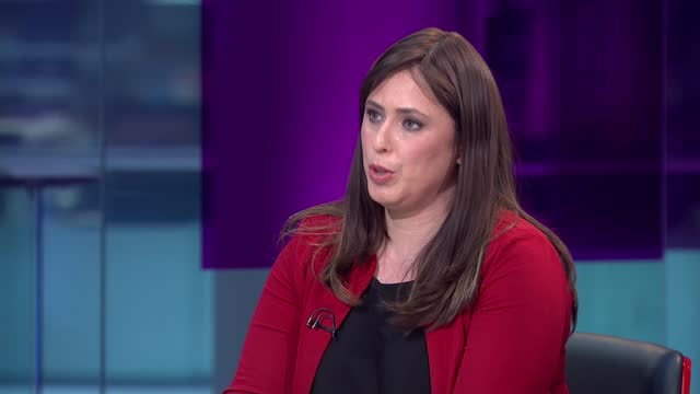 benjamin netanyahu dismisses requests for israel to wind down attacks; england: london: gir: int tzipi hotovely live interview sot. - war and conflict stock videos & royalty-free footage