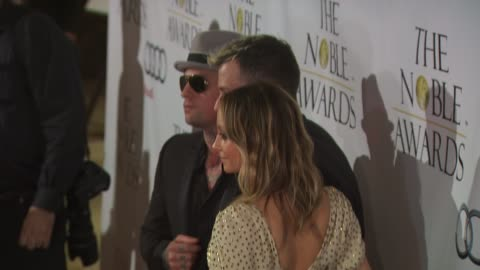 benji madden, nicole richie, joel madden at the noble awards at beverly hills ca. - nicole richie stock videos & royalty-free footage