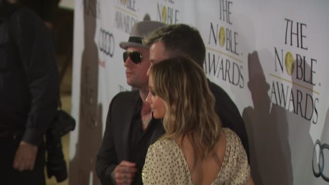 Benji Madden Nicole Richie Joel Madden at the Noble Awards at Beverly Hills CA