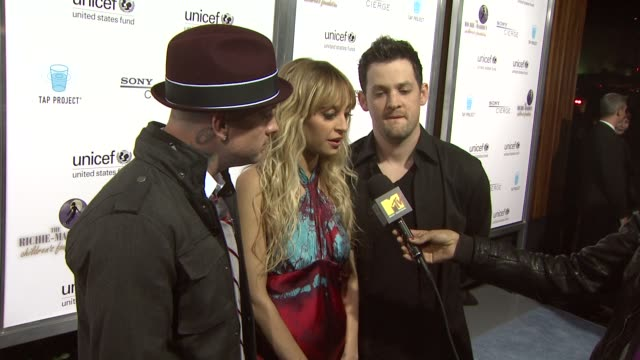 Benji Madden Nicole Richie Joel Madden at the Sony Cierge And The RichieMadden Children's Foundation's UNICEF Event at Los Angeles CA