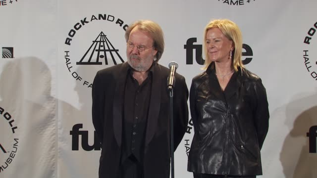Benny Andersson and AnniFrid Prinsessan Reuss of ABBA on being the first Swedish group to be inducted at the 25th Annual Rock And Roll Hall Of Fame...